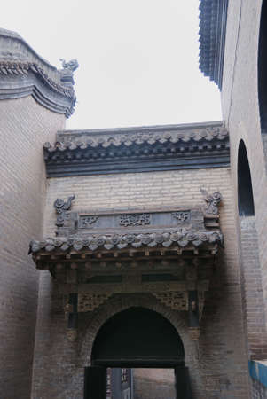 This is a ancienet architecture (such as temple,tower,building,house,and so on) in the north of China.