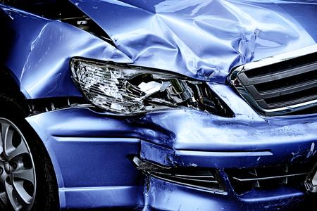 Photo pour Blue Car crash background - image libre de droit