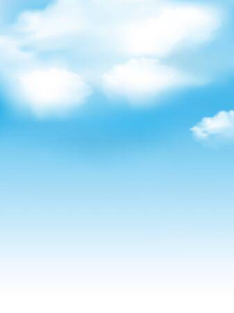 Illustration pour Sky cloud landscape light background - image libre de droit