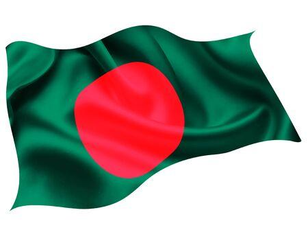 Illustration pour Bangladesh national flag world icon - image libre de droit