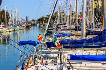 Photo for marina at the port of Rimini, Italy - Royalty Free Image