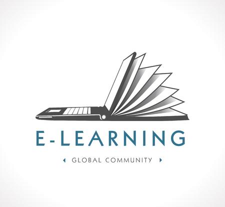 Illustration pour Logo - e-learning - image libre de droit