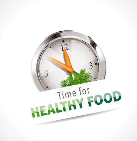 Ilustración de Stopwatch - Time for healthy food - Imagen libre de derechos
