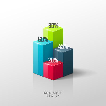 Illustration pour Vector infographic or web design template - image libre de droit