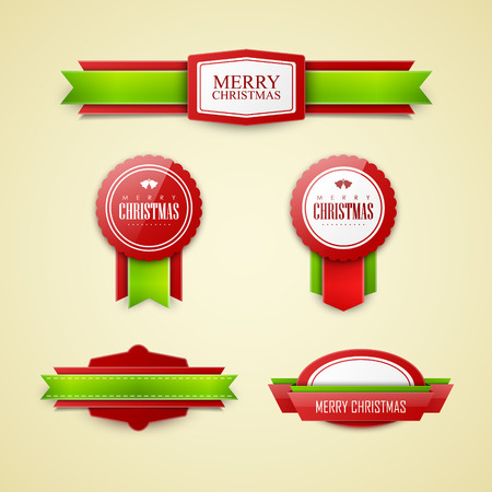 Illustration for Christmas labels set - Royalty Free Image
