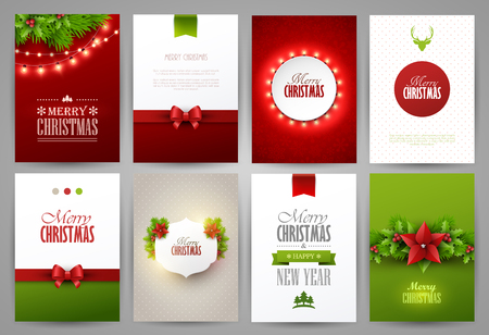 Illustration for Christmas backgrounds set - Royalty Free Image