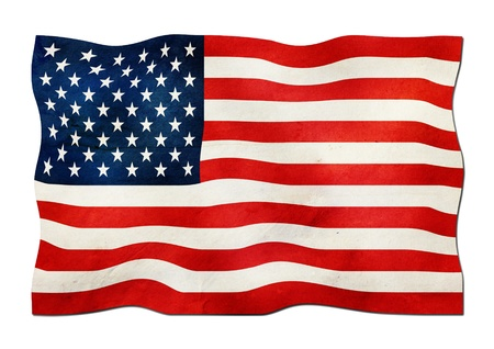 USA Flag made of Paper