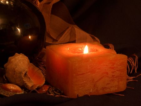 Burning enigmatic candle of fate