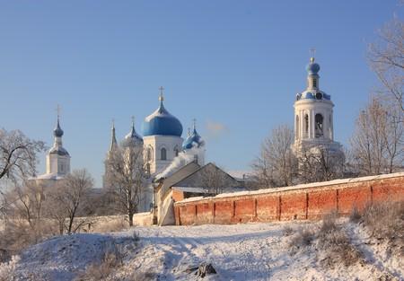 House of Bogolyubskaya Theotokos in authumn. Bogolubovo