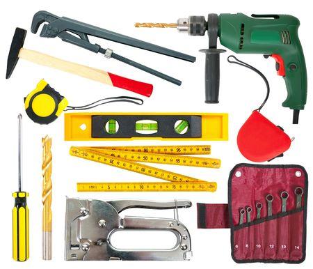 Photo pour Set of different work tools. - image libre de droit