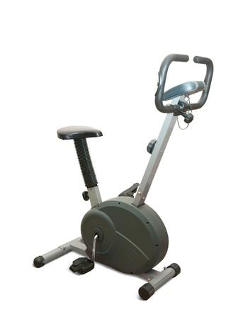 Exercise gym bike isolated on white