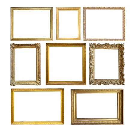 Photo pour Set of  Vintage gold picture frame. - image libre de droit