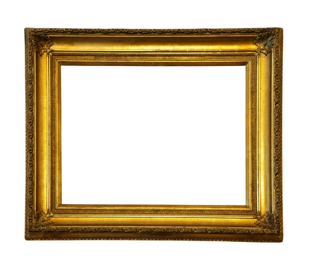 Foto de old antique gold frame.  - Imagen libre de derechos
