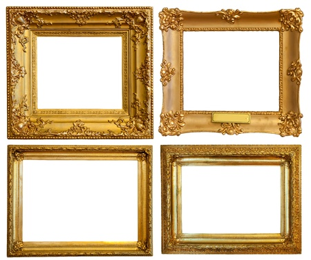 Set of few Luxury gilded frames