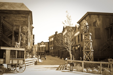 Retro photo of Far west town