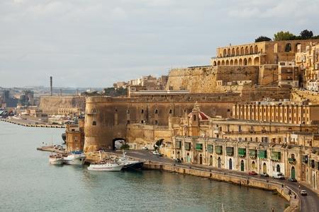 View of Valletta with Barrakka Gardens, Malta