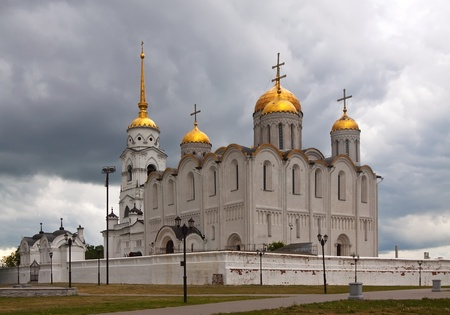 Assumption cathedral  at Vladimir in summer morning, Russia