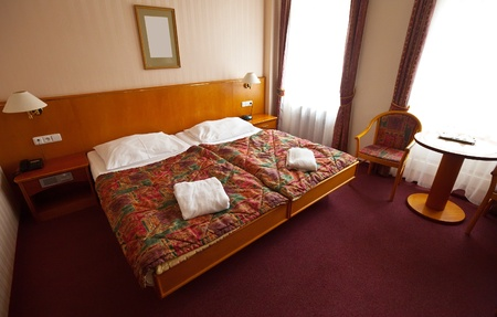 interior of bedroom with double bed