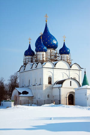 Cathedral of the Nativity of the Theotokos at Suzdal in winter  Russia