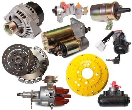 Set of auto parts. Isolated on white background