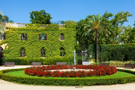 Desvalls Palace at Labyrinth Park in Barcelona.  Spain