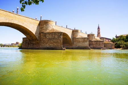 Stone Bridge over Ebro  in Zaragoza, Aragon