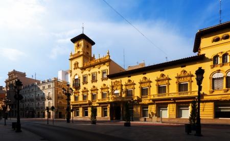 Picturesque houses in street of Castellon de la Plana. Valencian Community, Spain