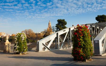 Bridge over Segura river  called Puente Nuevo. Murcia, Spain
