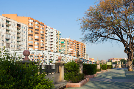 Embankment of Segura  and Nuevo bridge. Murcia, Spain