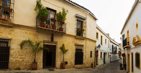 Old street in european city. Jerez de la Frontera