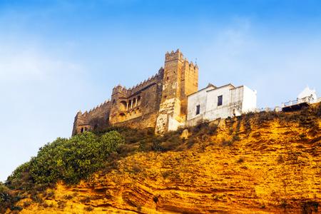 15th-century castle at  Arcos de la Frontera. Cadiz, southern Spain