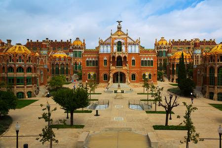BARCELONA, SPAIN - SEPTEMBER 13, 2014: View of Barcelona, Spain. Hospital de la Santa Creu i Sant Pau