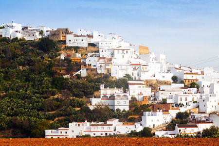 residential districts in spanish town.   Arcos de la Frontera, Spain