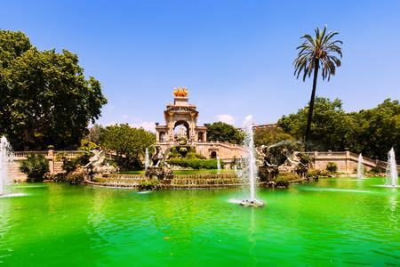 Barcelona. Fountain Cascada at Parc de la Ciutadella