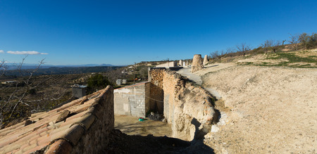Dwellings caves  with �himneys. Cortes de Baza, Spain