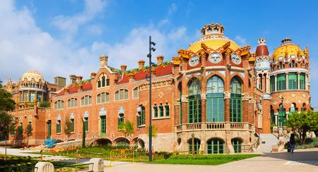 BARCELONA, SPAIN - SEPTEMBER 13, 2014: Hospital de Sant Pau by  Catalan modernist architect by Lluis Domenech i Montaner in Barcelona.  Catalonia