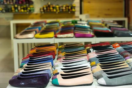 Photo pour different woman shoes diversity at  apparel shop - image libre de droit