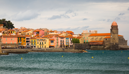 Small and picturesque French village of Collioure on Mediterranean coast