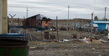 Dilapidated sights of town Esperanza in Santa Cruz province in Argentina