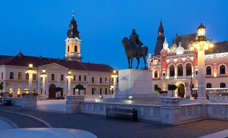 Unirii Square is famous tourist attraction in Oradea, Romania