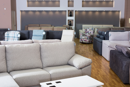Photo for Interior of furniture salon shopping room with sofas - Royalty Free Image