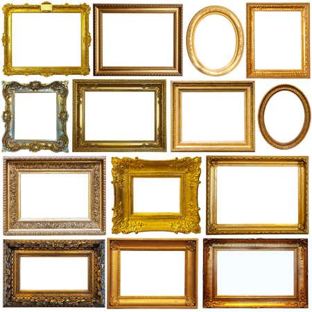 Photo pour Vintage frames isolated on white - image libre de droit