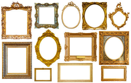 Photo for assortment of isolated frames - Royalty Free Image