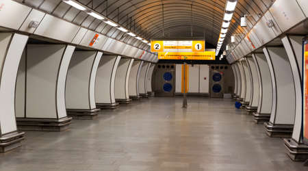 Photo pour Hloubetin station on Line B of Prague metro - image libre de droit