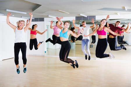 Foto für Adults jumping at dance class - Lizenzfreies Bild