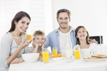 Photo for breakfast for an happy family - Royalty Free Image