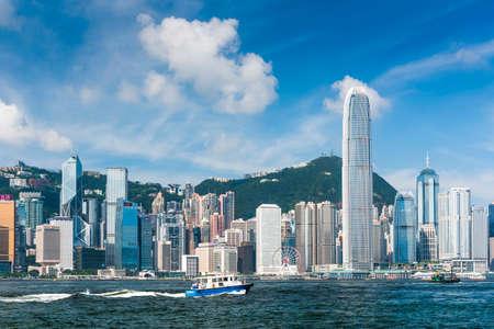Foto für Hong Kong cityscape, View From Victoria Harbour. International Finance Center (IFC) in Hong Kong. - Lizenzfreies Bild