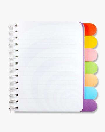 Isolated note book on white background