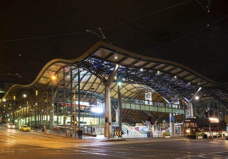 southern cross rail station in central melbourne australia