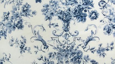 Photo pour Retro Floral Pattern Fabric Background - image libre de droit